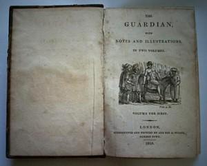 Alte Bücher mit Stockflecken