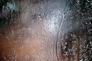 Fenster im Regen