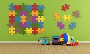 Kinderzimmer Deko Ideen mit Puzzle