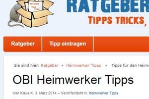 OBI Heimwerker Tipps